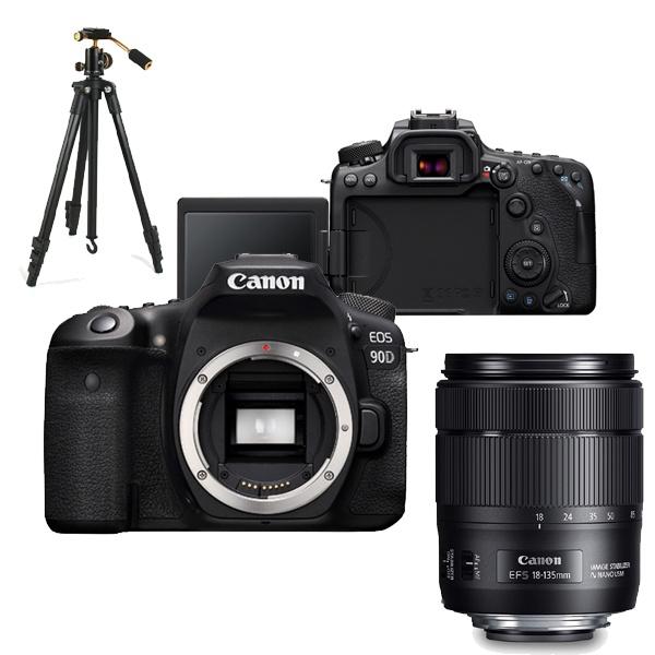 EOS 90D + 18-135mm IS USM KIT + LCD보호필름 + 삼각대 + 256GB 풀패키지 [캐논코리아 정품]