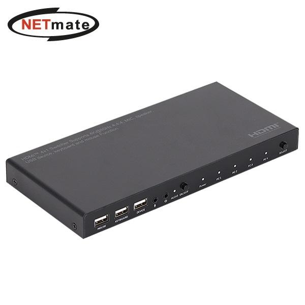 NETmate NM-PTK02 [KVM스위치/4:1/USB]