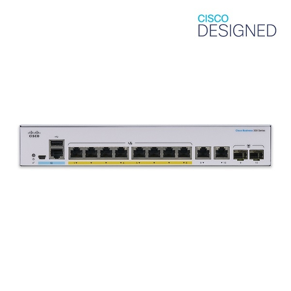 CISCO CBS350-8P-E-2G-EU [스위칭허브/8포트/2SFP]