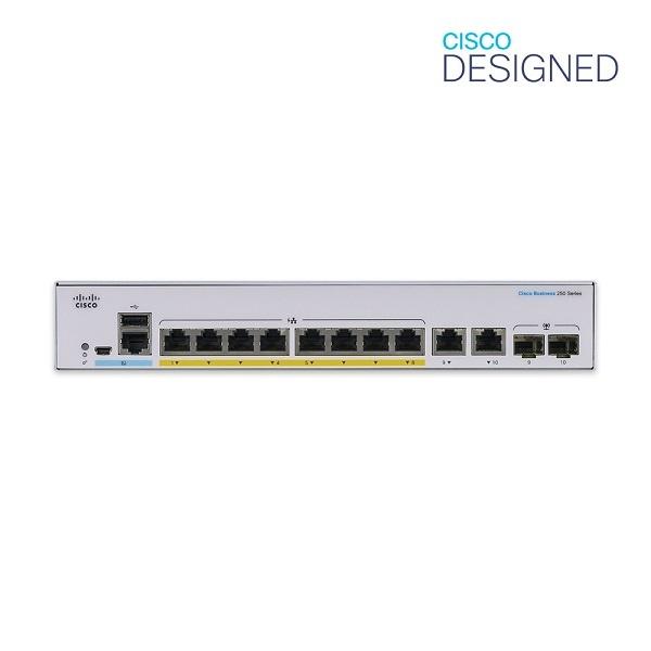 CISCO CBS250-8P-E-2G-EU [스위칭허브/8포트/2SFP]