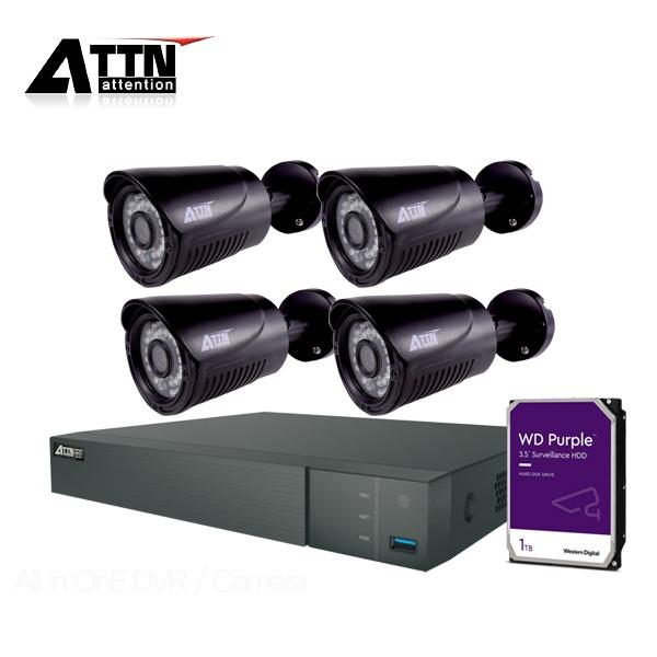 210만화소 CCTV 실내패키지, ATTN-DTF*1대 / XB(블랙)*4대 [1TB 하드 포함]