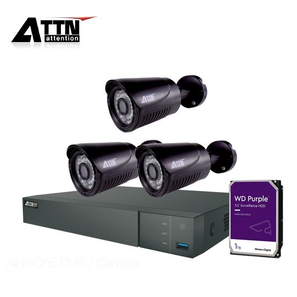 210만화소 CCTV 실내패키지, ATTN-DTF*1대 / XB(블랙)*3대 [1TB 하드 포함]