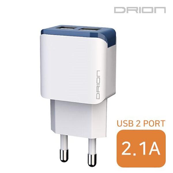 드리온 가정용 USB2구 충전기 2.1A [DR-TC1-212]