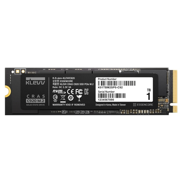 클레브 1TB PCIe M.2 NVMe KLEVV CRAS C920 3D TLC