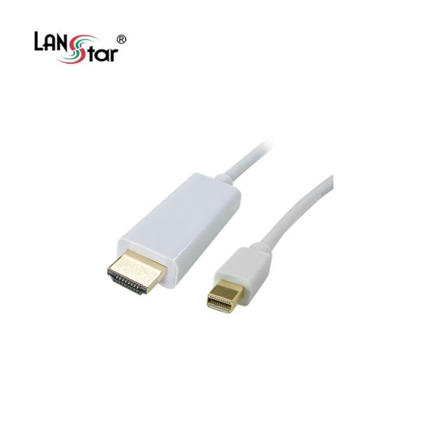 랜스타 Mini DP 1.2 to HDMI 케이블 2M [LS-MDP192-2M] [화이트]