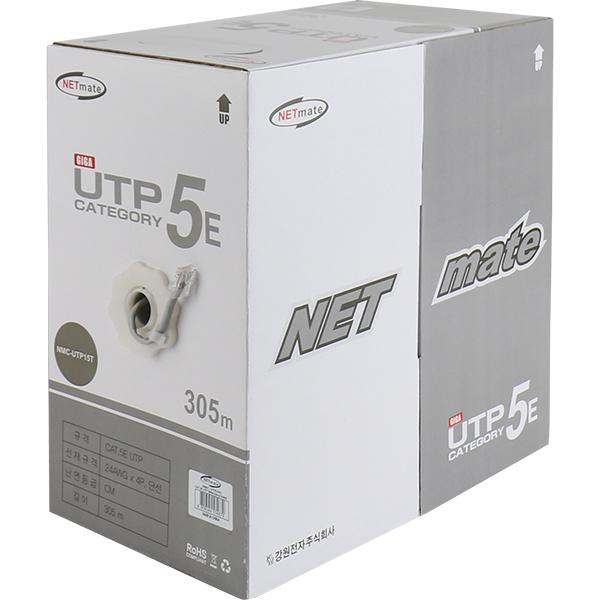 NETmate CAT.5E UTP 케이블 305m (단선/그레이) [NMC-UTP15T]