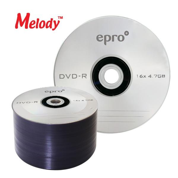 DVD-R, 16배속, 4.7GB [멜로디 EPRO] [벌크/50매]
