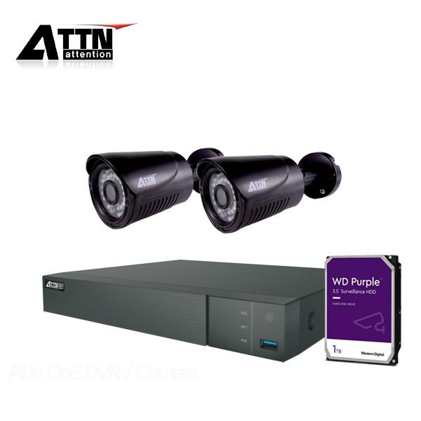 210만화소 CCTV 실내패키지, ATTN-DTF*1대 / XB(블랙)*2대 [1TB 하드 포함]