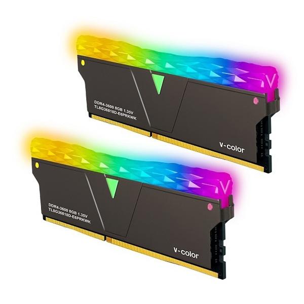 브이컬러 Prism Pro DDR4 PC4-28800 CL18 RGB 16GB (8GBx2) 블랙 제이씨현