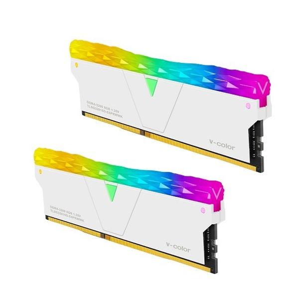 브이컬러 Prism Pro DDR4 PC4-25600 CL16 RGB 16GB (8GBx2) 화이트 제이씨현