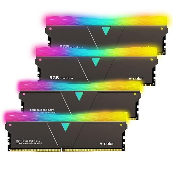 브이컬러 Prism Pro DDR4 PC4-28800 CL18 RGB 16GB (8GBx2) 블랙 SCC 제이씨현
