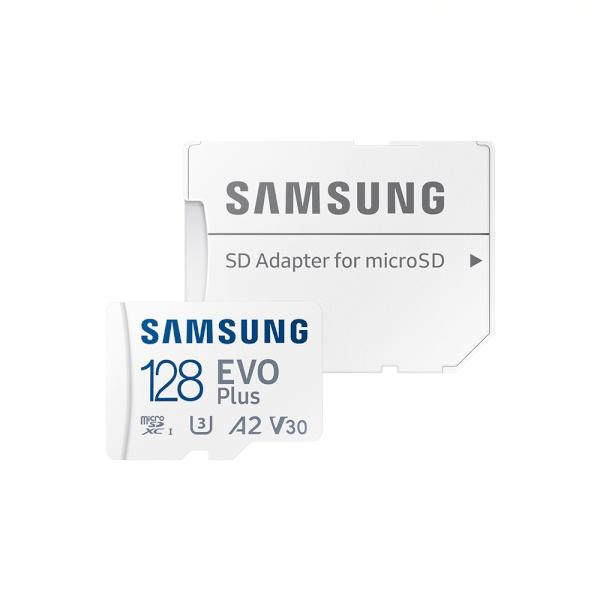 [공식인증] MicroSDXC, Class10, EVO Plus, UHS-I(U3) 신형 MicroSDXC 128GB [SD어댑터포함] [MB-MC128KA/KR](2021) ▶ MB-MC128HA/KR 후속모델 ◀