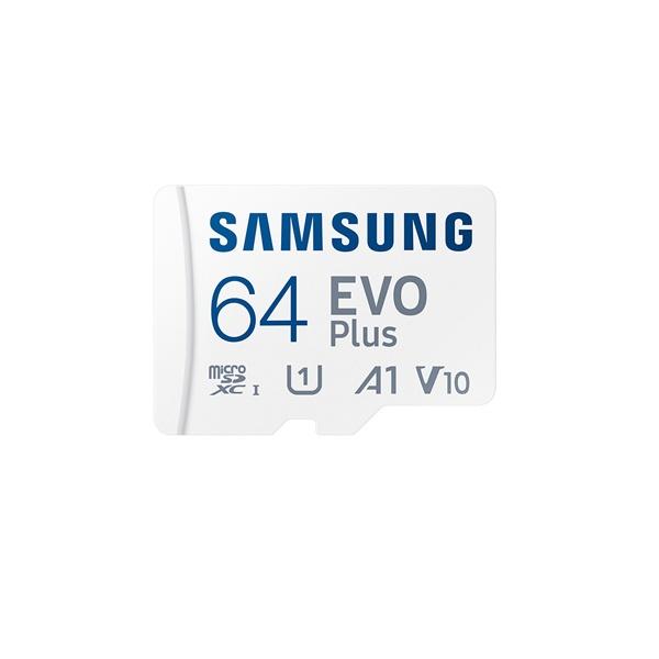 [공식인증] MicroSDXC, Class10, EVO Plus, UHS-I 신형 MicroSDXC 64GB [SD어댑터포함] [MB-MC64KA/KR](2021) ▶ MB-MC64HA/KR 후속모델 ◀