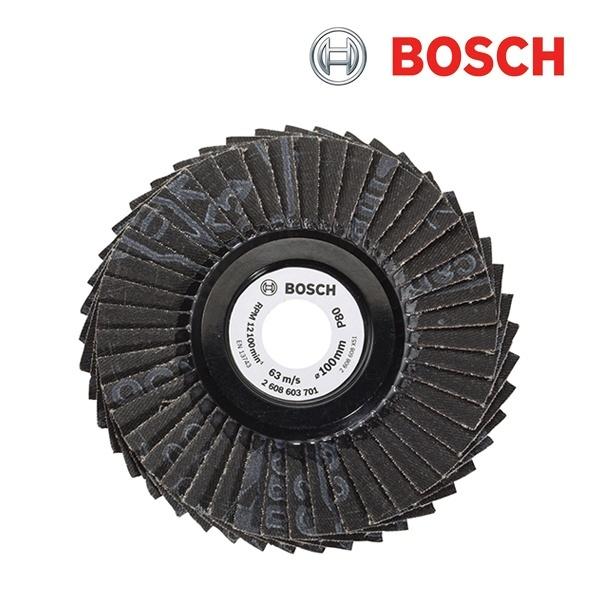 보쉬 4인치 플랩 디스크 1개입 [제품선택] 80방(2608603701)