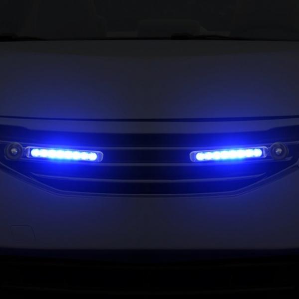 [GTS41648] 바람개비 풍력 LED 라이트 2p세트(블루)