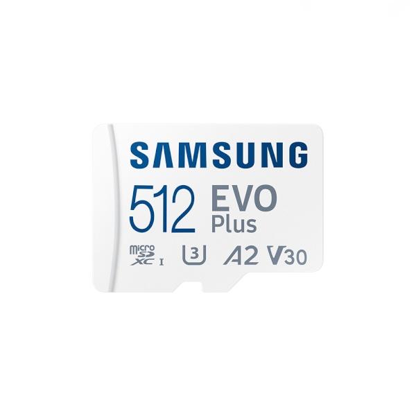 [공식인증] MicroSDXC, Class10, EVO Plus, UHS-I 신형 MicroSDXC 512GB [SD어댑터포함] [MB-MC512KA/KR](2021) ▶ MB-MC512HA/KR 후속모델 ◀