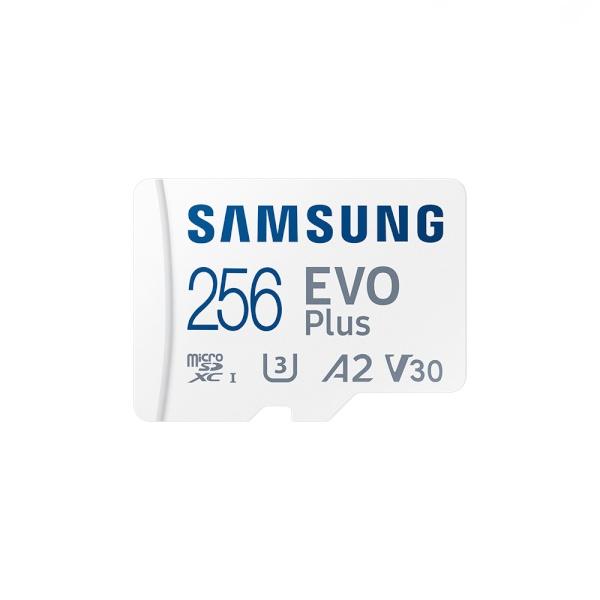 [공식인증] MicroSDXC, Class10, EVO Plus, UHS-I 신형 MicroSDXC 256GB [SD어댑터포함] [MB-MC256KA/KR](2021) ▶ MB-MC256HA/KR 후속모델 ◀