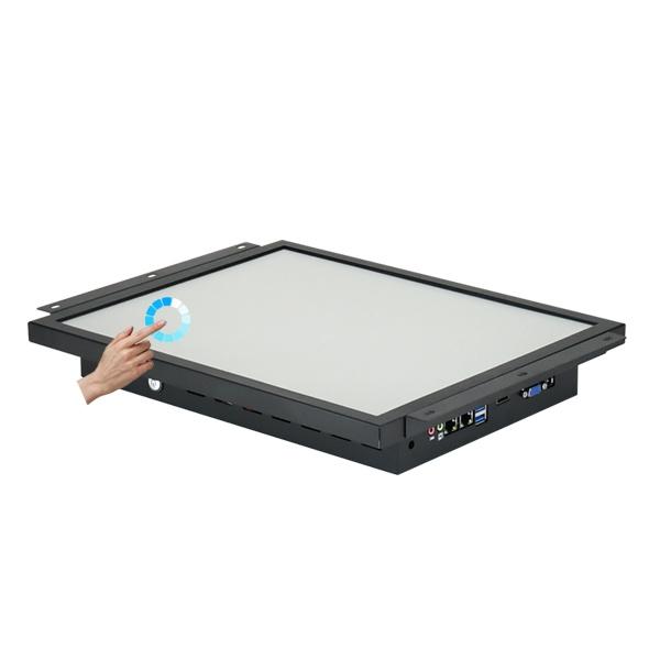 17형 산업용 일체형 터치패널PC HDL-T170PC-J8 압력식터치 [8세대 셀러론 + SSD 120GB + Win10 IoT + 무선랜]