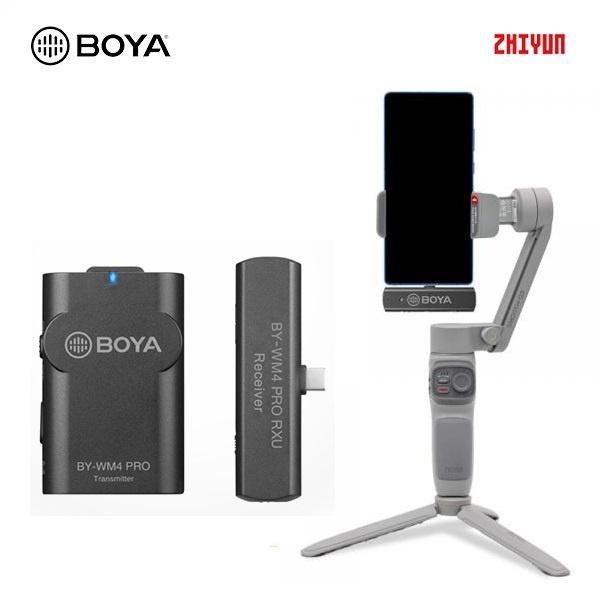 스무스 Q3 콤보 + BY-WM4 Pro K5 TYPE-C 스마트폰용 무선 마이크 세트