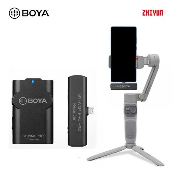 스무스 Q3 콤보 + BY-WM4 Pro K3 아이폰용 무선 마이크 세트
