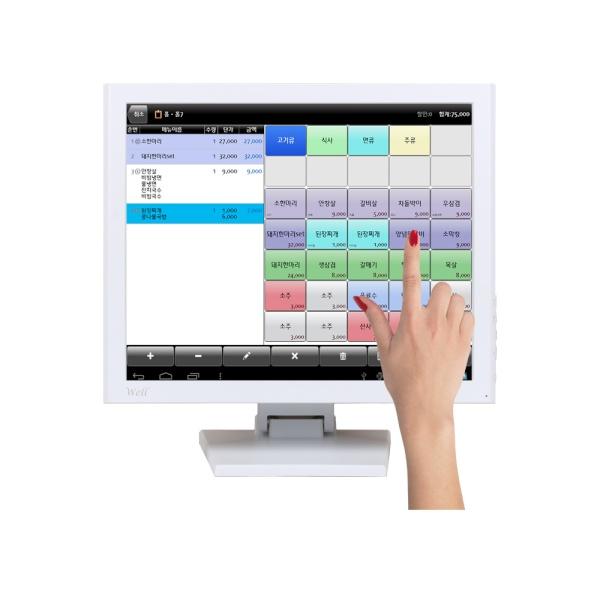 WELL 170HDMI TA 600 화이트 터치 [감압식 터치ㅣ스탠드 A형ㅣ600cd]