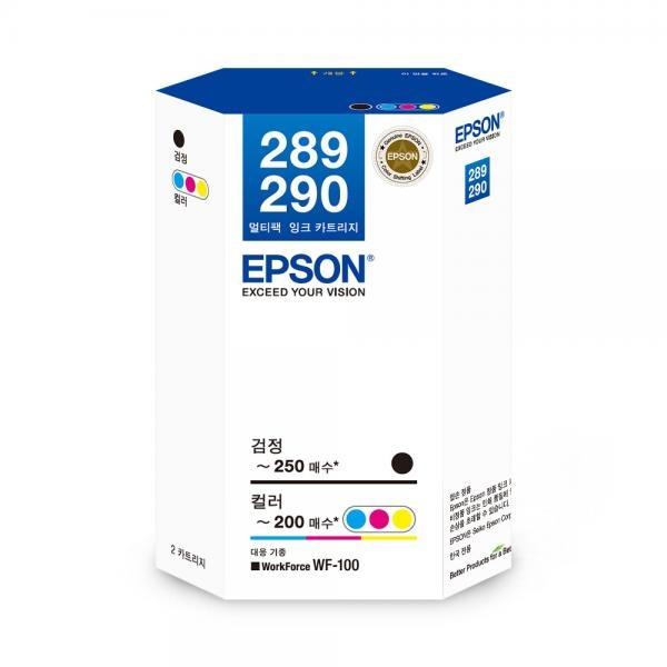 정품잉크 T289270 잉크 패키지 (WF-100/검정:250매,컬러:200매)