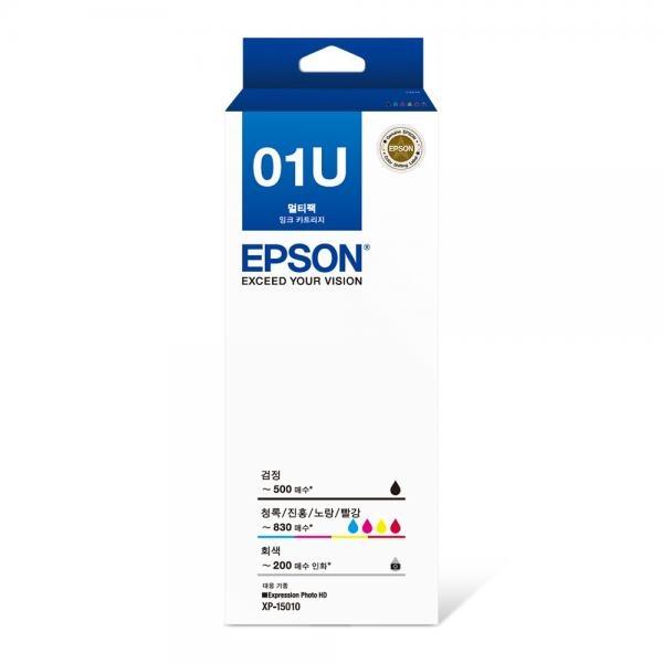 정품포토잉크 T01U870 잉크 6색 패키지 (XP-15010/검정:500매,컬러:830매,회색:200매)