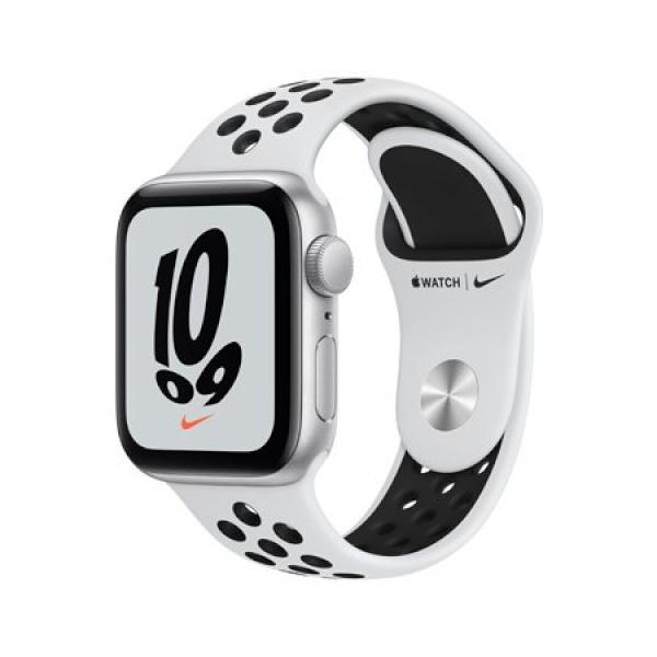 애플워치 SE 나이키 [MKQ23KH/A] [GPS/40MM/실버알루미늄/퓨어플래티넘 스포츠밴드]