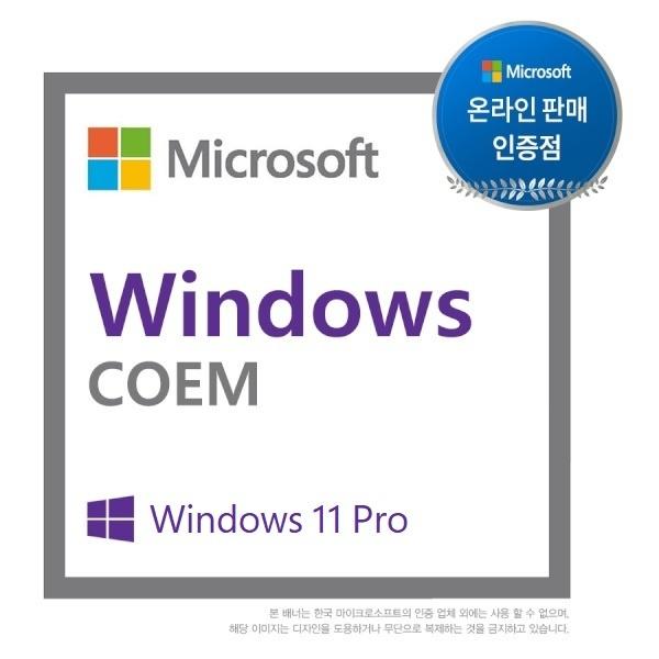 Windows 11 Pro [COEM(DSP)/한글/64bit]
