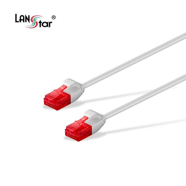 랜스타 Cat.6 UTP 초슬림 랜케이블 화이트 1M [화이트/LS-SL6-1W]