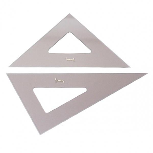 [산키스] 제도용 삼각자 SK-SQ-45 (45Cm / 2개 1set)