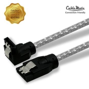 [CableMate] 케이블메이트 SATA3 Lock 라운드 케이블(ㄱ자형) 0.5M