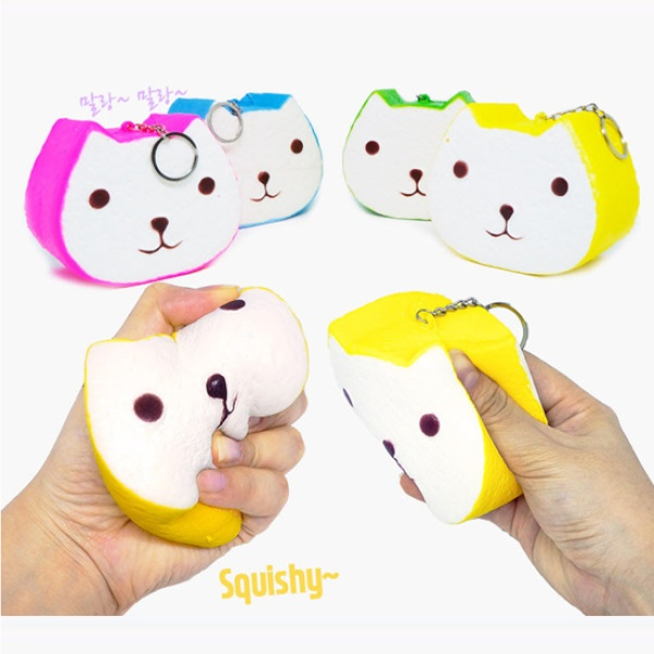 [티트론] 스퀴시 열쇠고리 [제품선택] [6. 웃는 고양이 대형]