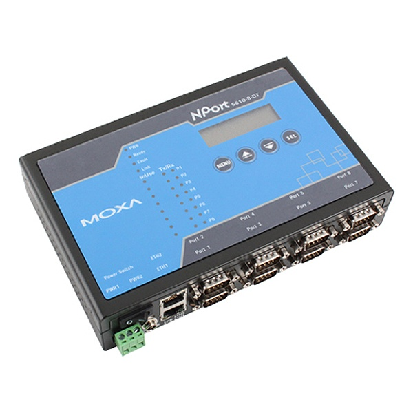 [MOXA] 목사 RS232 to RJ45(100Mbps)컨버터, 8포트 [NPort5610-8-DT] [강원전자]