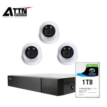 [오피네트웍스] ATTN 초고화질 500만화소, 내부형 카메라 3SET 풀패키지 [시게이트 1TB 포함] [TD-FHDF *1 + ATTN-H *3]