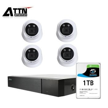 [오피네트웍스] ATTN 초고화질 500만화소, 내부형 카메라 4SET 풀패키지 [시게이트 1TB 포함] [TD-FHDF *1 + ATTN-H *4]