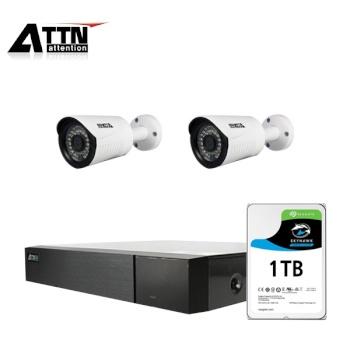 [오피네트웍스] ATTN 초고화질 500만화소, HD 외부형 카메라 2SET 풀패키지 [시게이트 1TB 포함] [TD-FHDF *1+ CCTV-XB *2]