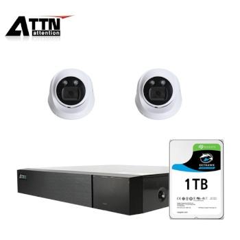 [오피네트웍스] ATTN 초고화질 500만화소, 내부형 카메라 2SET 풀패키지 [시게이트 1TB 포함] [TD-FHDF *1 + ATTN-H *2]