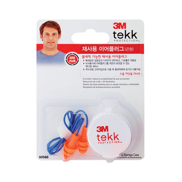 [3M] [쓰리엠] TEKK 90586 재사용 이어플러그 (끈형)