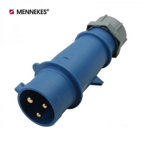 [메네키스] IP44 230V 32A 2P E AM-TOP 플러그 [TYP260]