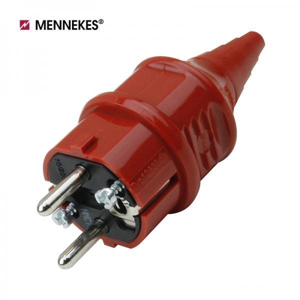 [메네키스] IP44 230V 16A 2P E 산업용 슈코플러그 [레드/TYP10839]