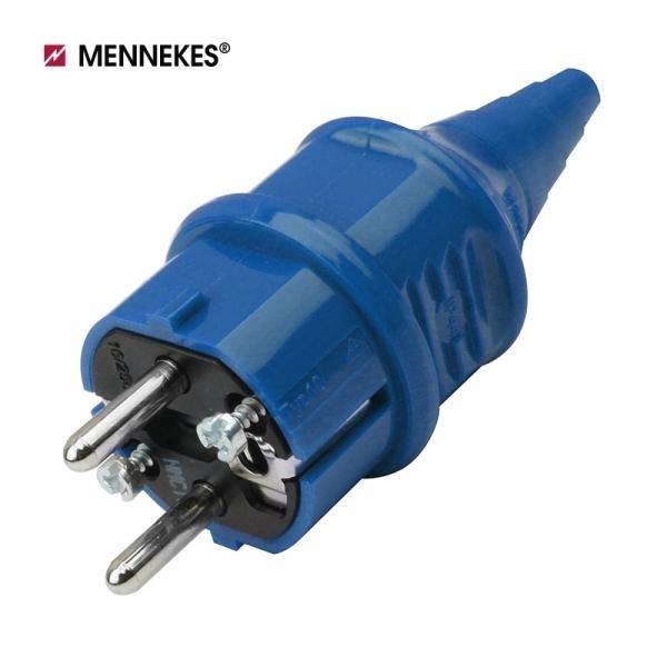 [메네키스] IP44 230V 16A 2P E 산업용 슈코플러그 [블루/TYP10838]