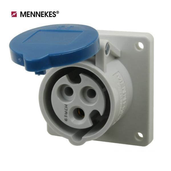 [메네키스] IP44 230V 16A 3P 판넬형 소켓(직선형) [TYP1366]