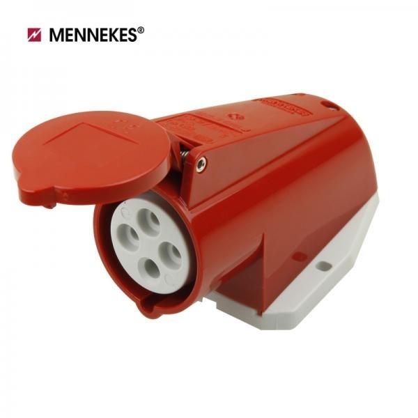 [메네키스] IP44 400V 16A 3P E 노출형 소켓 [TYP1268]