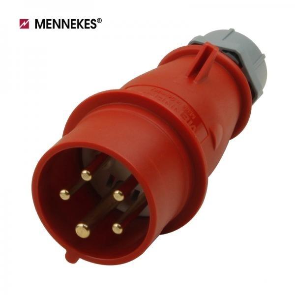 [메네키스] IP44 400V 16A 3P N E AM-TOP 플러그 [TYP3]