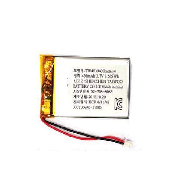 리튬폴리머 배터리 충전지 (KC인증제품/재고보유) [450mah-403040]