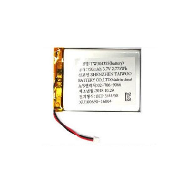 리튬폴리머 배터리 충전지 (KC인증제품/재고보유) [750mah-304355]
