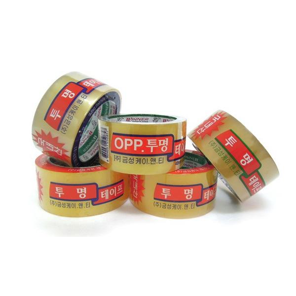 OPP 투명테이프 5개입 [16mm(3등분) x 25M]