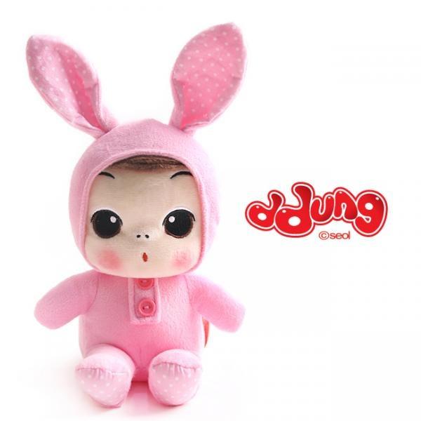 뚱(ddung) 동물 봉제인형(18cm) 제품선택 토끼[GKS17150]