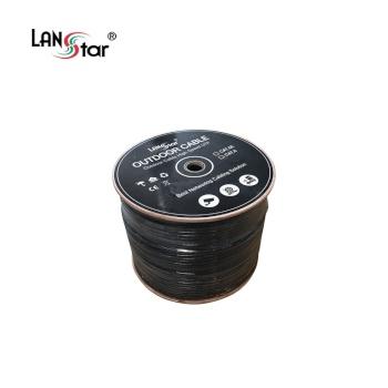 [LANStar] 랜스타 CAT.6 UTP 옥외 랜케이블 300M [1롤/박스] 블랙 [LS-6UTP-OD300M]